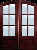 refinished wood door