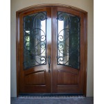 Marino 150x150 - Wood Doors with Iron Grilles