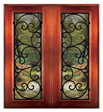 6 8 messina - Wood Doors with Iron Grilles