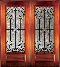 6 8 palermo - Wood Doors with Iron Grilles