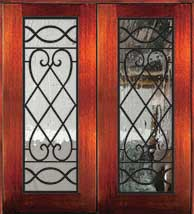 6 8 savannah - Wood Doors with Iron Grilles