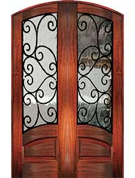 8 0 marino - Wood Doors with Iron Grilles
