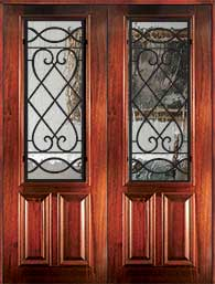 8 0 savannah - Wood Doors with Iron Grilles