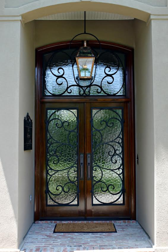 Wood Doors With Iron Grilles Mandeville Metairie Amp New