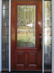 A Custom Fleur De List Beveled Glass Door & What Makes Beveled Glass Doors Unique? | Doors of Elegance Pezcame.Com
