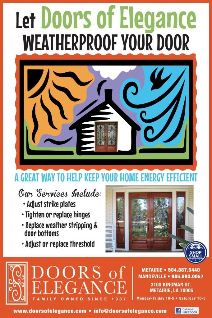 door weatherization graphic