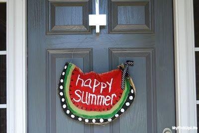summer front door decorations 2 - 10 Cute summer front door decorations